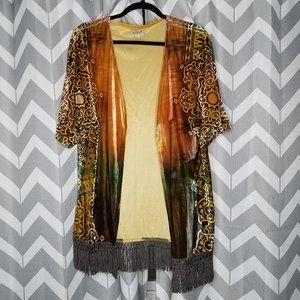 ⚫ONE WORLD orange cardigan